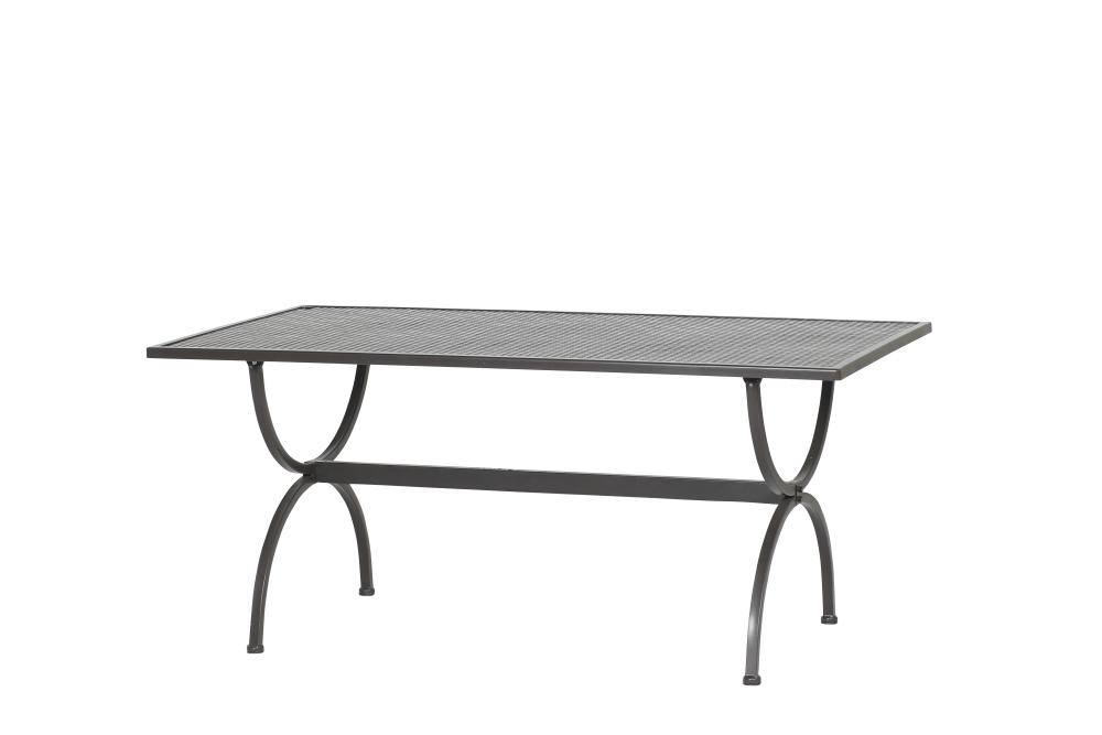 Tisch ROMEO 160x90cm von MBM, Schmiedeeisen, marone-antik