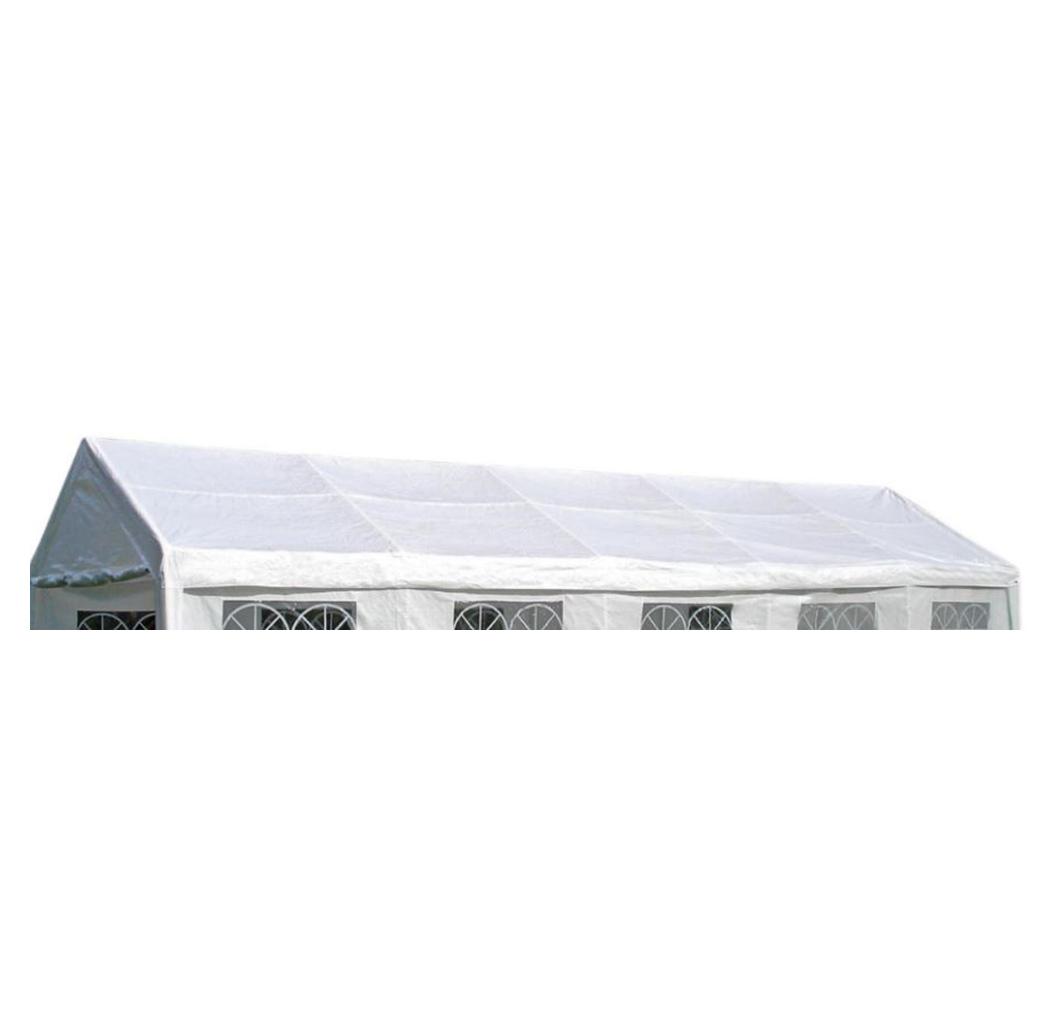 Dachplane PALMA für Zelt 4x10 Meter, PE weiss mit Spanngummis