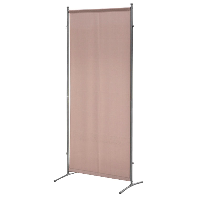 Sichtschutz - Trennwand 80x190cm, Metall + Textilbezug taupefarben, verlängerbar