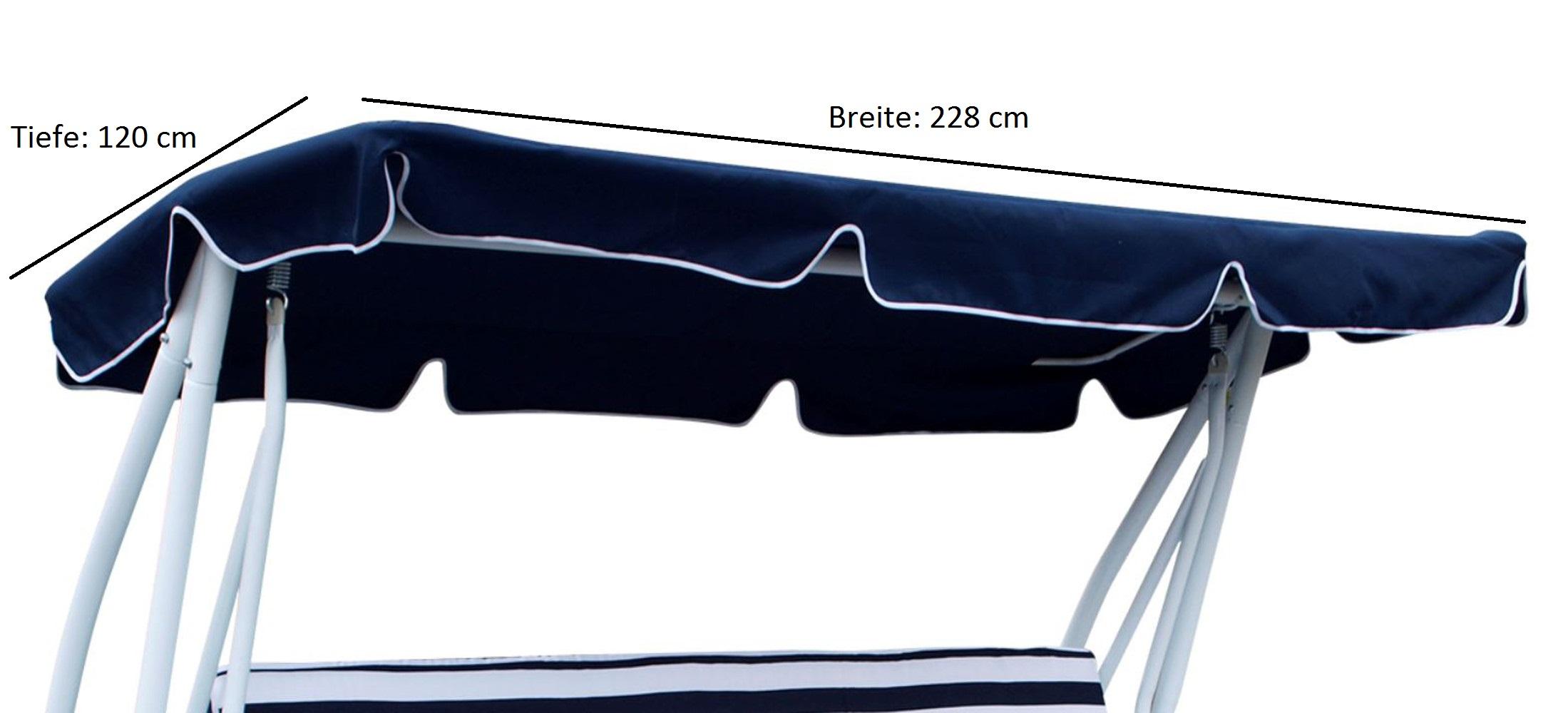 Dachplane für Hollywoodschauk MIAMI 228x120cm, dunkelblau