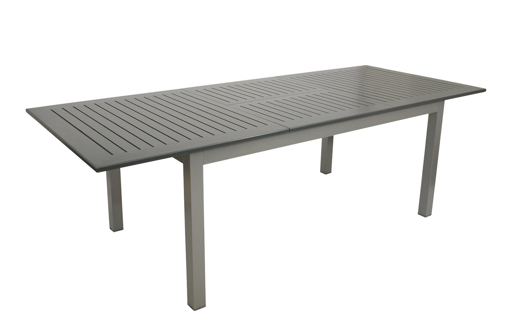 Ausziehtisch BAJAZZO 175/245x100cm, Aluminium grau
