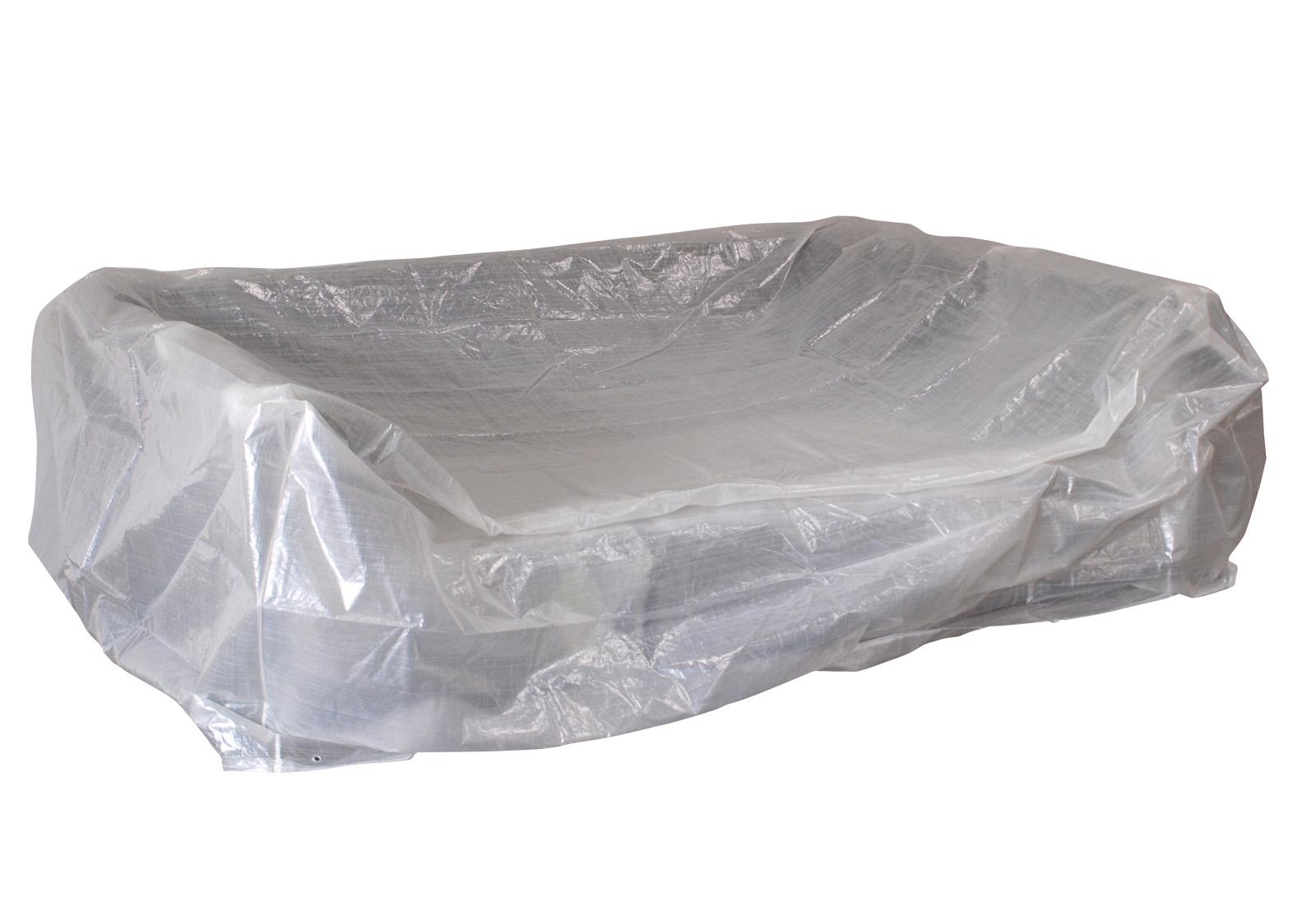 Abdeckhaube Loungeset 245x165x80cm, PE transparent