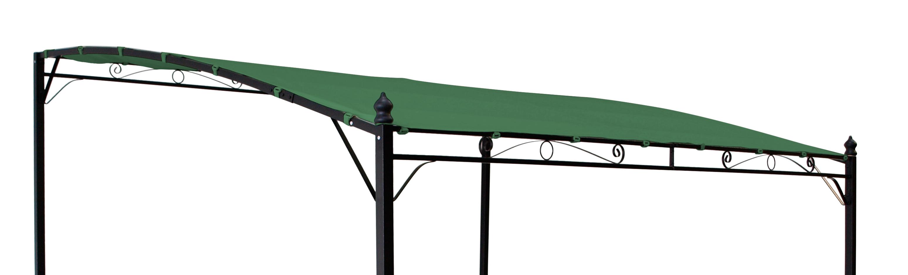 Ersatzdach für Anbaupavillon MANTOVA, PVC-beschichtet dunkelgrün