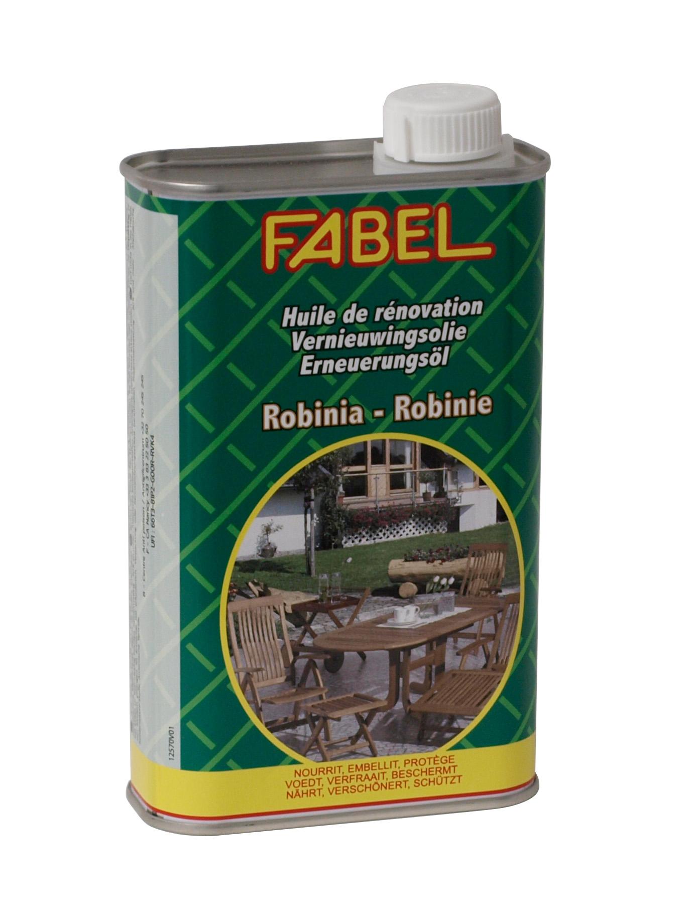 Spezial-Pflegeöl für Gartenmöbel aus Robinienholz von FABEL, 500ml