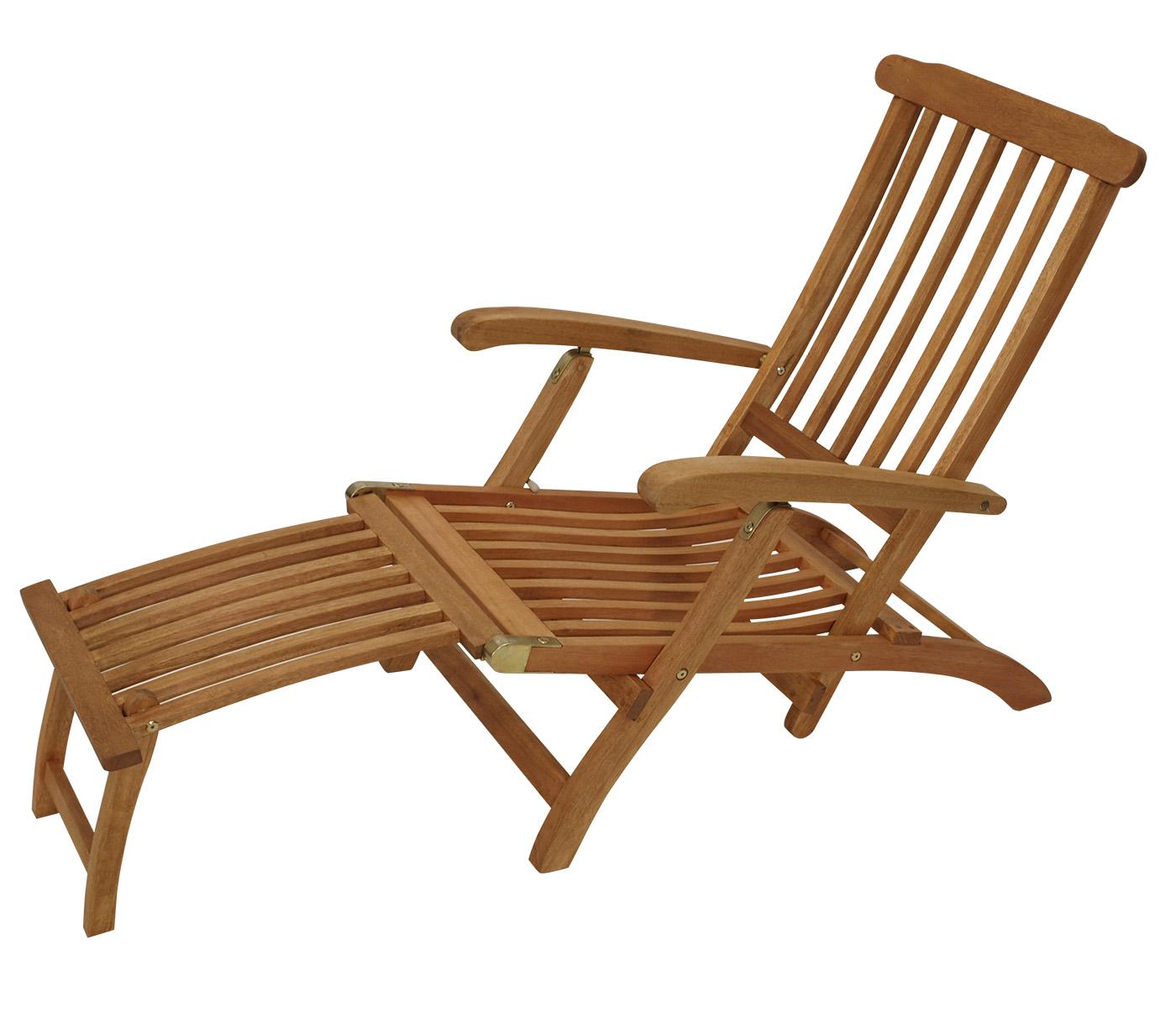 Deckchair MAINE klappbar, Eukalyptus geölt, FSC®-zertifiziert