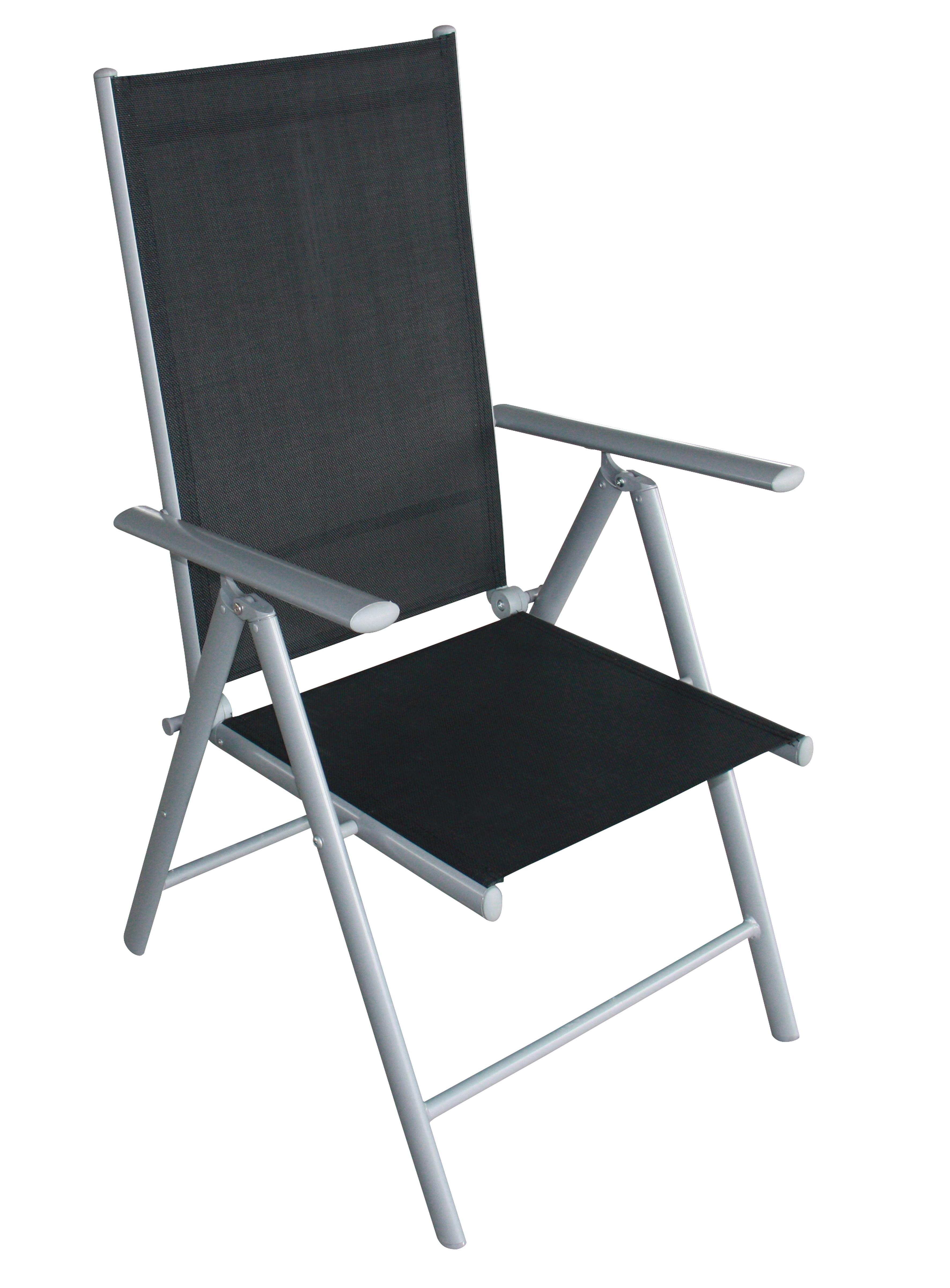 Klappsessel RAVENNA, Aluminium + Kunstgewebe schwarz, 4 Stück