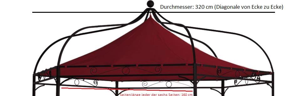 Ersatzdach für Pavillon MODENA, Polyester PVC-beschichtet bordeaux