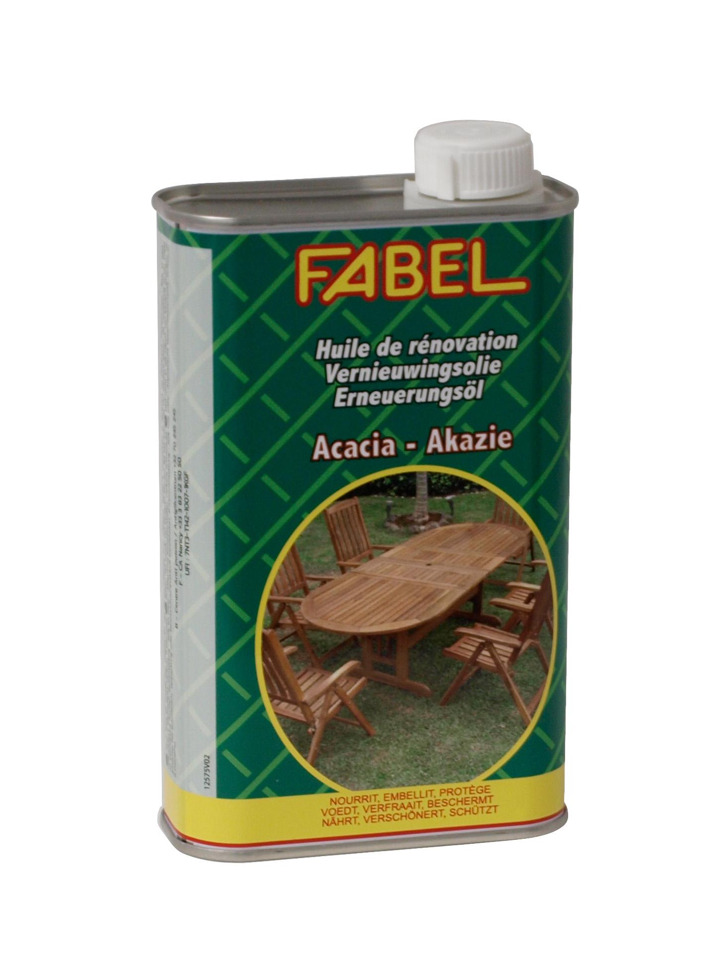 Spezial-Pflegeöl für Gartenmöbel aus Akazienholz von FABEL, 500ml