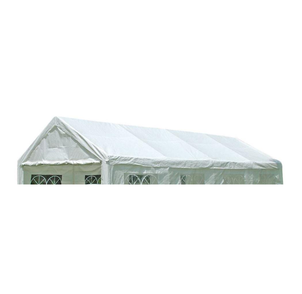 Dachplane PALMA für Zelt 4x8 Meter, PVC weiss incl. Spanngummis